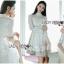 เดรสเกาหลี พร้อมส่ง เดรสผ้าชีฟอง สีขาว thumbnail 2