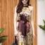 เดรสเกาหลี พร้อมส่ง Dress อัดพลีท ปริ้นลายดอก thumbnail 11