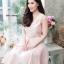 ชุดเดรสเกาหลี พร้อมส่ง Dress ผ้าไหมคอวี thumbnail 11
