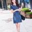 เดรสเกาหลี พร้อมส่ง dress ทรง a ทรงใส่น่ารัก thumbnail 4