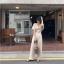 เสื้อผ้าเกาหลี พร้อมส่ง จั้มสูท ขายาว คอวี thumbnail 5