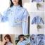 เสื้อเกาหลี พร้อมส่ง เสื้อเชิ้ท ทรงคอตั้งเก๋ๆ thumbnail 2