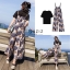 เสื้อผ้าเกาหลี พร้อมส่ง Set เสื้อยืด+เอี้ยมขายาว thumbnail 7