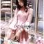 เดรสเกาหลี พร้อมส่ง ชุดเดรส ผ้าคอตตอนสีชมพูอ่อน thumbnail 4