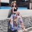 ชุดเดรสเกาหลี พร้อมส่ง ชุด Maxi Dress เกาหลี thumbnail 1