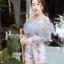 เสื้อผ้าเกาหลี พร้อมส่ง จั๊มสูท ลูกไม้ปักจั้มปาดไหล่ thumbnail 5
