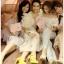 เดรสเกาหลี พร้อมส่ง เดรสผ้าชีฟอง สีขาวปักลาย thumbnail 6
