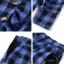 เสื้อผ้าเกาหลี พร้อมส่ง เสื้อ+กางเกง ทอลายสก้อตสีน้ำเงิน thumbnail 6