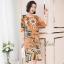 ชุดเดรสเกาหลี พร้อมส่ง Dress ทรงหน้าสั้นหลังยาว คอกลม thumbnail 8