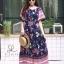 ชุดเดรสเกาหลี พร้อมส่ง Maxi dress ปริ้นลายดอกแต่งเชิงชาย thumbnail 10