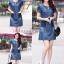 เดรสเกาหลี พร้อมส่ง dress ทรง a ทรงใส่น่ารัก thumbnail 2