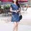 เดรสเกาหลี พร้อมส่ง dress ทรง a ทรงใส่น่ารัก thumbnail 8