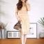 ชุดเดรสเกาหลี พร้อมส่ง Dress ซีทรูปักลูกไม้ดอกลอย thumbnail 4