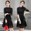 พร้อมส่ง Mini dress สีดำงานลูกไม้ thumbnail 7