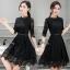 พร้อมส่ง Mini dress สีดำงานลูกไม้ thumbnail 1