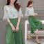 เสื้อผ้าเกาหลี พร้อมส่ง เสื้อ+กางเกงกระโปรง thumbnail 3
