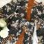 เดรสเกาหลี พร้อมส่ง เดรสเนื้อผ้าเครป ลายดอกไม้ thumbnail 15