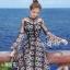 เดรสเกาหลี พร้อมส่ง Dress ชุดกระโปรงลวดลายดาว thumbnail 4