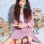 เดรสเกาหลี พร้อมส่ง เดรส อัดพลีท แขนตุ๊กตา thumbnail 4