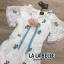 เดรสเกาหลี พร้อมส่ง ชุดเดรส สีขาวผ้าตาข่าย thumbnail 6