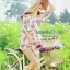 พร้อมส่ง เสื้อผ้าแฟชั่น พิมพ์ลายดอกซากุระสีชมพูหวาน thumbnail 3