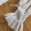 เดรสเกาหลี พร้อมส่ง เดรสผ้าลูกไม้ สีขาวซีทรูตกแต่งลายจุด thumbnail 11