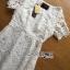 พร้อมส่ง เดรสยาวผ้าลูกไม้สีขาวตัดต่อผ้าทูลล์ thumbnail 9