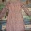 ชุดเดรสเกาหลี พร้อมส่ง Dress ซีทรูปักลูกไม้ดอกลอย thumbnail 17