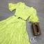 เสื้อผ้าเกาหลี พร้อมส่ง เสื้อครอป คอวี กับ กระโปรงเอวสูง thumbnail 19