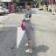 เดรสเกาหลี พร้อมส่ง เดรสยาว สีขาว FENDI thumbnail 2
