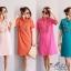 เดรสเกาหลี พร้อมส่ง Dress คอโปโล แขนสั้น thumbnail 1