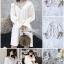 เสื้อเกาหลี พร้อมส่ง เสื้อเชิ๊ท เนื้อผ้าคอตตอนสีขาว thumbnail 2