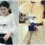 เสื้อเกาหลี พร้อมส่ง เสื้อ แขนยาวผ้าลูกไม้ลายดอกไม้ thumbnail 8