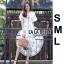 เดรสเกาหลี พร้อมส่ง ชุดเดรส สีขาวผ้าตาข่าย thumbnail 7