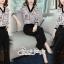 เสื้อผ้าแฟชั่นเกาหลี พร้อมส่ง เสื้อเชิ๊ท กับ กางเกงขายาวผ้าเครป thumbnail 9