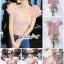 เสื้อเกาหลี พร้อมส่ง เสื้อ ผ้าไหมสีชมพูคอเหลี่ยมผ้ายืด thumbnail 2