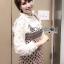 ชุดเดรสเกาหลี พร้อมส่ง เสื้อลูกไม้ กับ เดรสสายหนาผ้าวิสโคส thumbnail 9