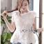 เสื้อเกาหลี พร้อมส่ง เสื้อแขนกุด คอสูงผ้าลูกไม้ thumbnail 10